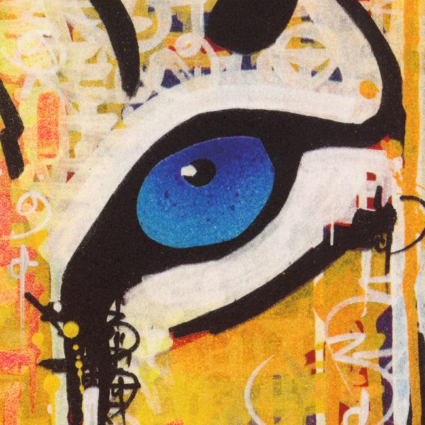 Pink Blue Eyes Tiger-568