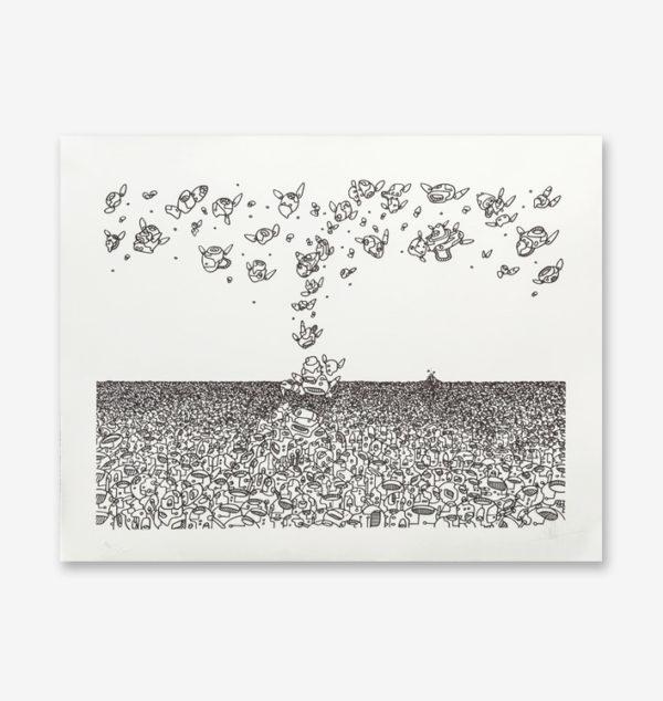 ligne-d-horizon-mehdi-cibille-print-them-all-lithograph