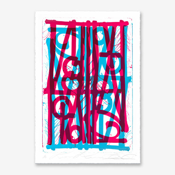 blue-pink-ludavico-and ludovico-edition-retna-print-them-all-lithograph-on-stone