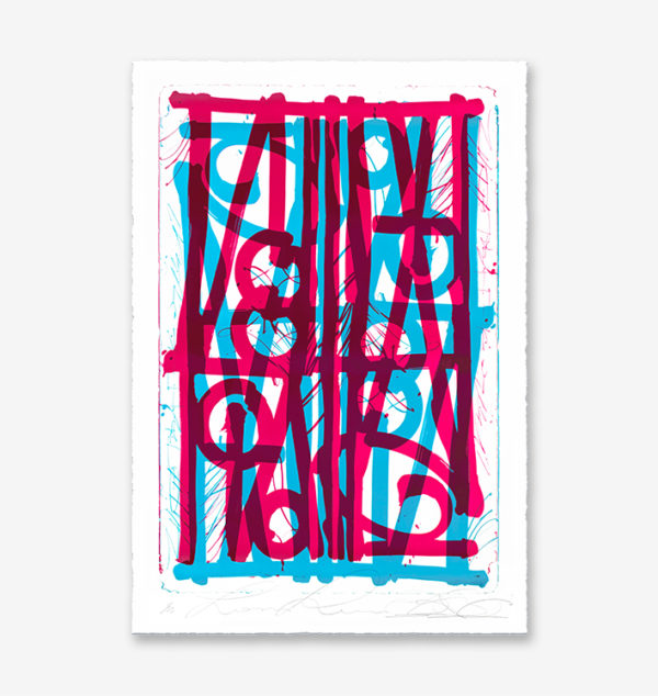 blue-pink-ludavico-and ludovico-edition-retna-print-them-all-lithograph-on-stone