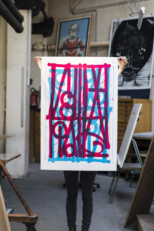 blue-pink-ludavico-and ludovico-edition-retna-print-them-all-lithograph-on-stone-publishing-house-paris