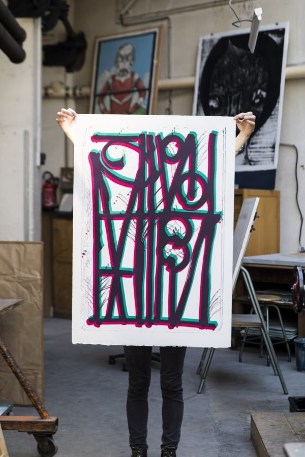 ludavico-and-ludovico-turquoise-pink-edition-retna-print-them-all-lithograph-printing-house-paris