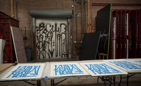 ludavico-and-ludovico-blue-edition-retna-print-them-all-printing-process-lithograph-artist-studio
