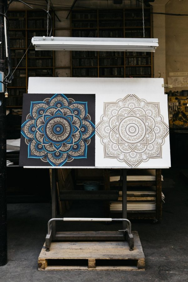 blue-gold-lotus-cryptik-print-them-all-lithographs-contemporary-art