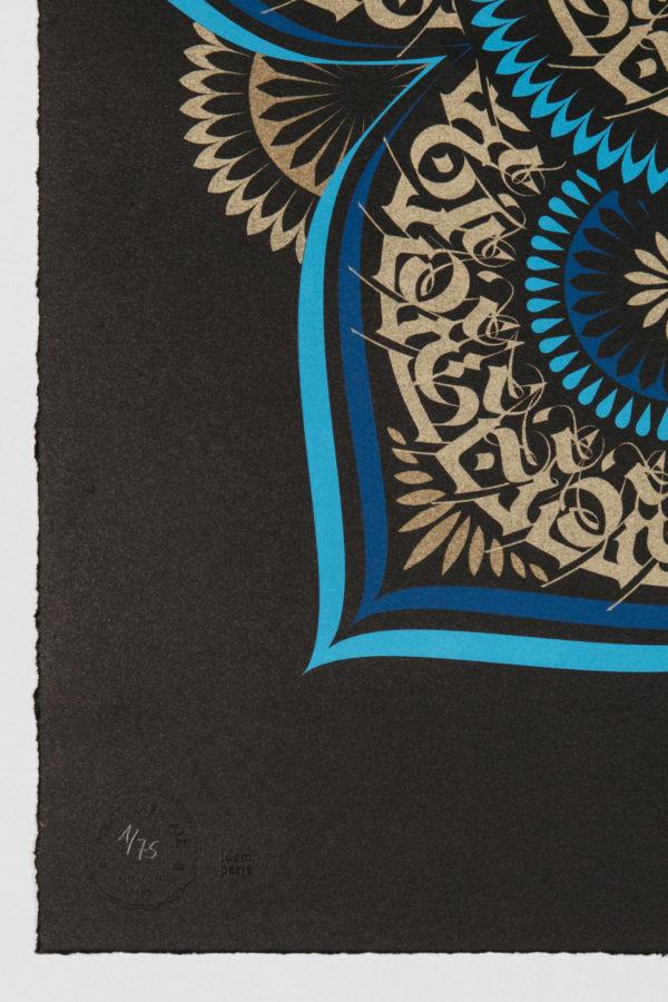 blue-lotus-cryptik-print-them-all-lithograph-mantradala-numbered-art-detail