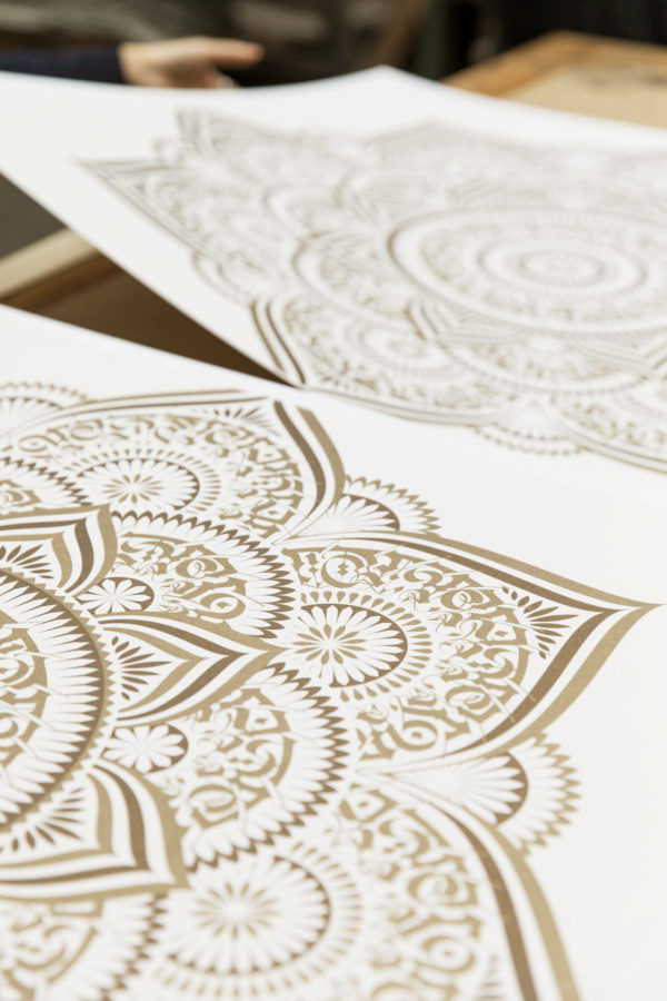 gold-lotus-cryptik-print-them-all-lithograph-detail-contemporary-art