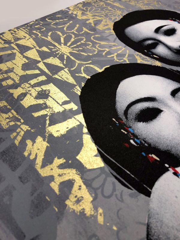 duality-gold-edition-hush-print-them-all-lithograph-detail-gold-leaf-contemporary-art