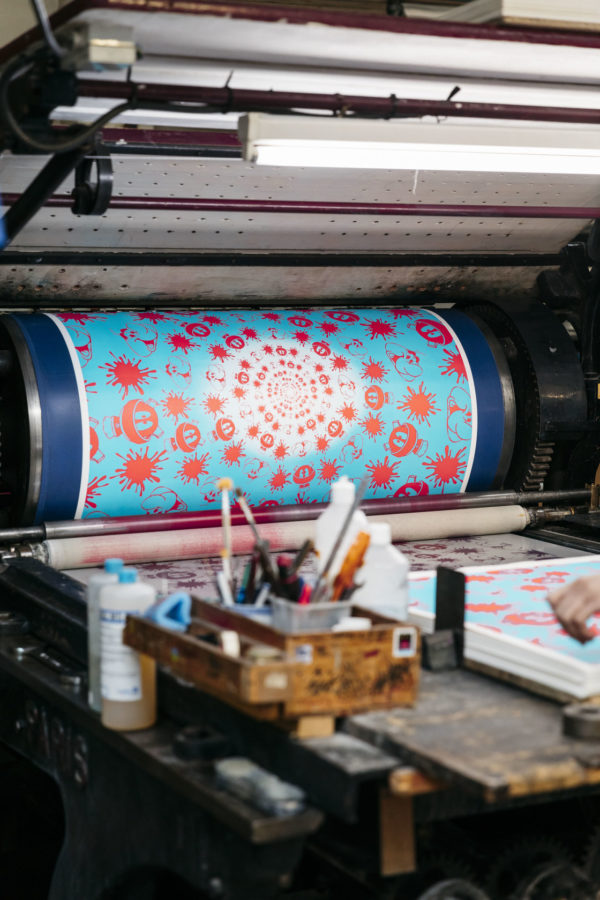 no-stain-no-gain-john-armleder-print-them-all-mamco-geneve-lithograph-blue-pink-edition-printing-process-paris