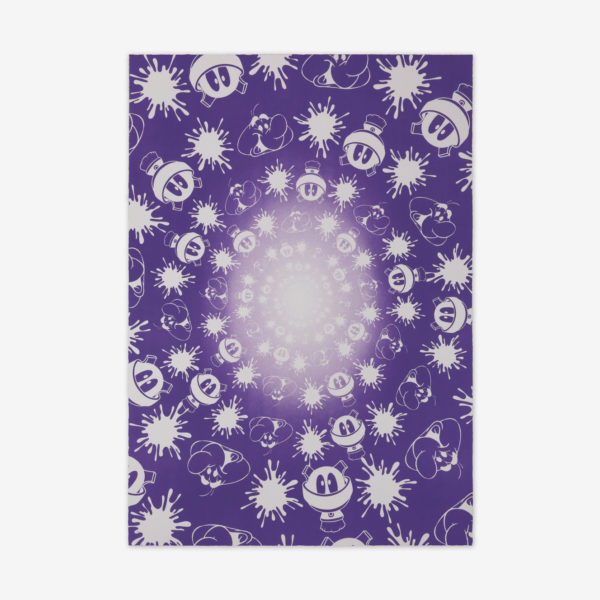no-stain-no-gain-john-armleder-print-them-all-mamco-geneve-lithograph-purple-white-edition