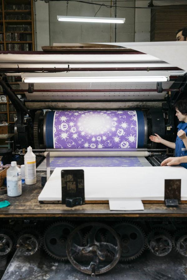 no-stain-no-gain-john-armleder-print-them-all-mamco-geneve-lithograph-purple-white-edition-printing-process-paris