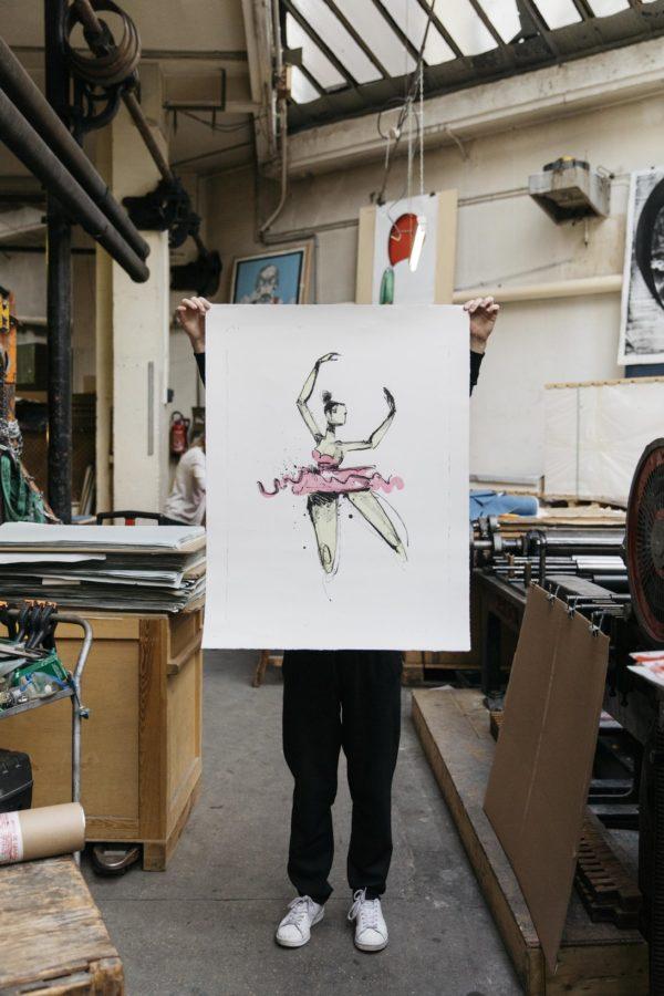 prima-ballerina-anthony-lister-lithograph-print-them-all-presentation-printing-house-paris