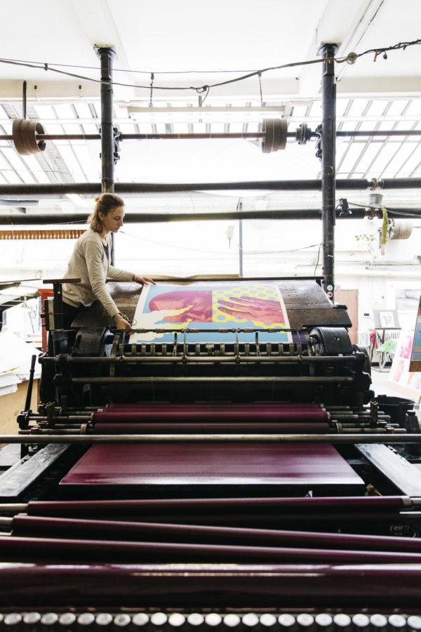 last-gasp-blue-edition-lithograph-michael-reeder-print-them-all-printing-process-art