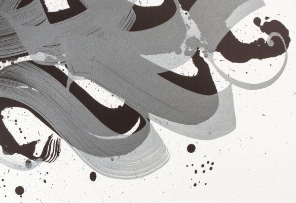 unambidextrous-black-metallic-grey-niels-shoe-meulman-print-them-all-lithograph-detail-calligraffiti-art