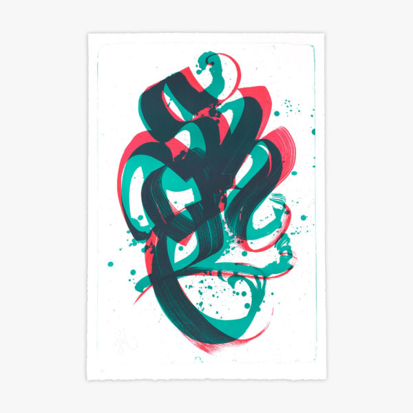 unambidextrous-green-red-niels-shoe-meulman-print-them-all-lithograph-on-stone