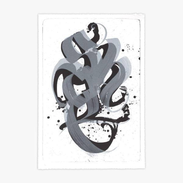 unambidextrous-black-metallic-grey-niels-shoe-meulman-print-them-all-lithograph-calligraffiti