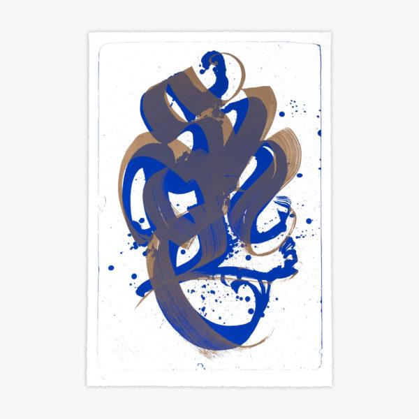 unambidextrous-blue-metallic-brown-niels-shoe-meulman-print-them-all-lithograph-on-stone