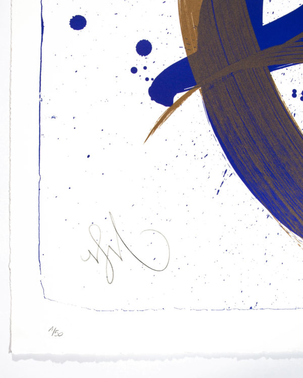 unambidextrous-blue-metallic-brown-niels-shoe-meulman-print-them-all-lithograph-on-stone-limited-edition-numbered-signed