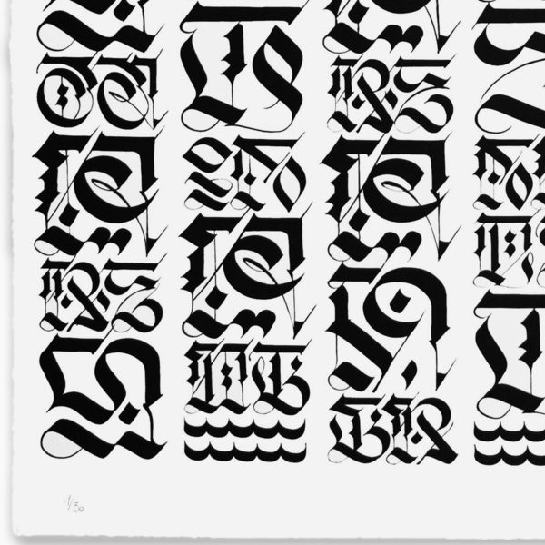 the-divine-letter-black-on-white-cryptik-print-them-all-lithograph-numbered-limited-edition
