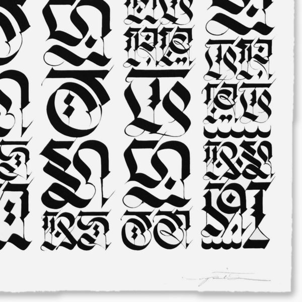 the-divine-letter-black-on-white-cryptik-print-them-all-lithograph-signature-detail