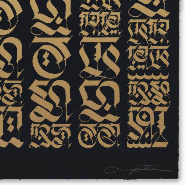 the-divine-letter-gold-on-black-cryptik-print-them-all-lithograph-signature-detail