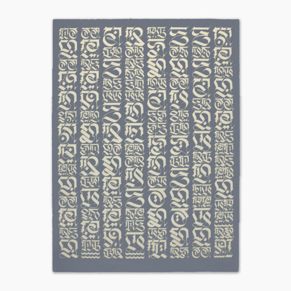 the-divine-letter-pale-gold-on-grey-cryptik-print-them-all-lithograph