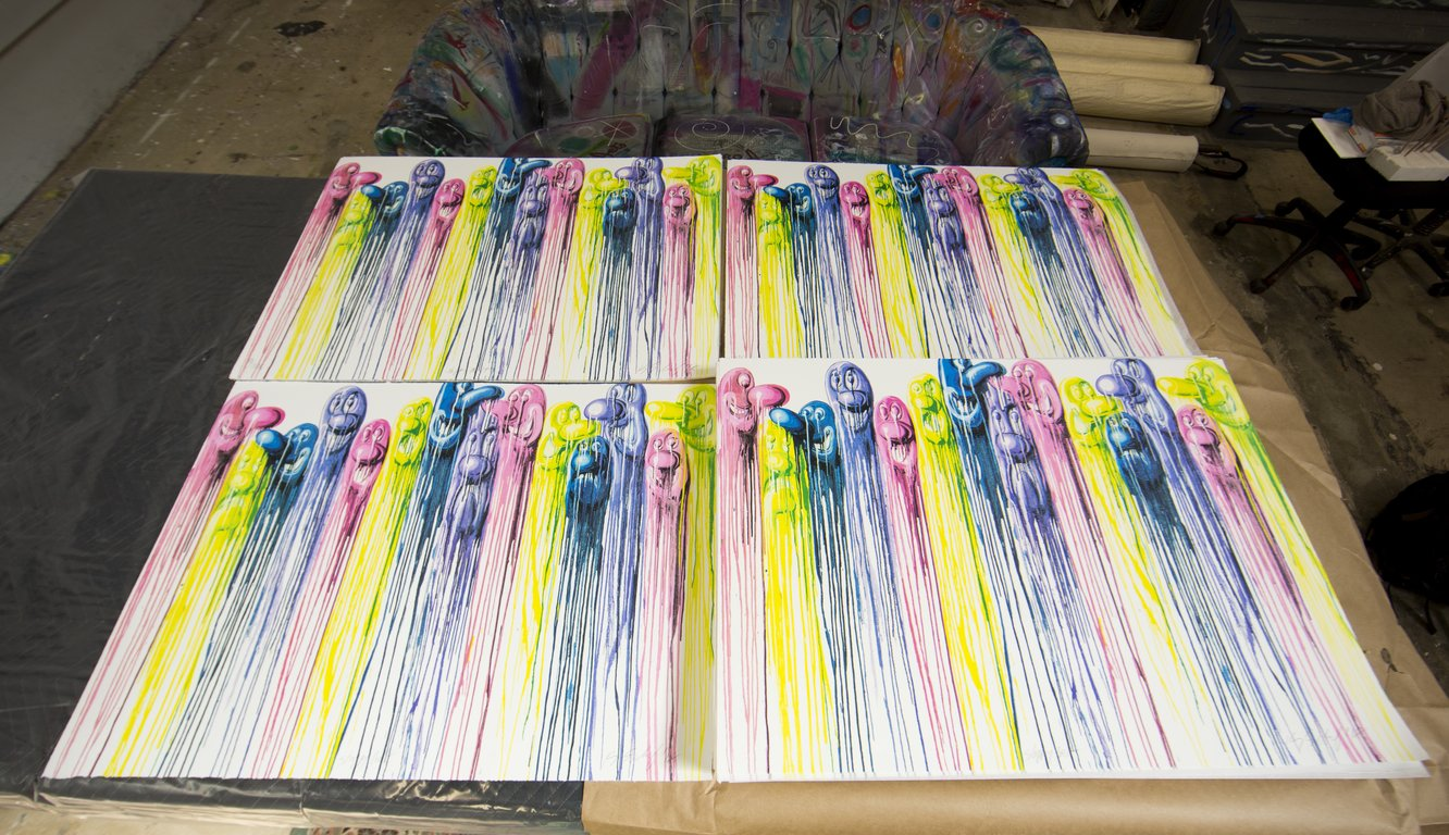 sloppy-melt-kenny-scharf-lithograph-limited-edition-print-them-all