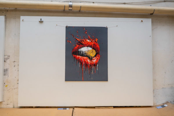 bullet-in-your-mouth-brusk-lithograph-contemporary-art-print-them-all-printing-house-paris