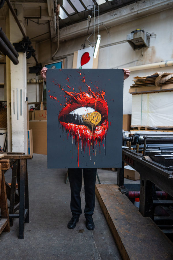 bullet-in-your-mouth-brusk-lithograph-print-them-all-presentation-printing-house-paris
